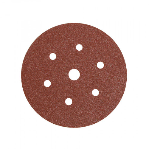 Mirka 150mm Aluminium Oxide 6 Hole Discs - 100 Grit