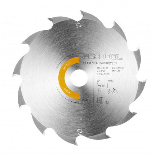FESTOOL Saw blade HW 160x1,8x20 PW12 TS55