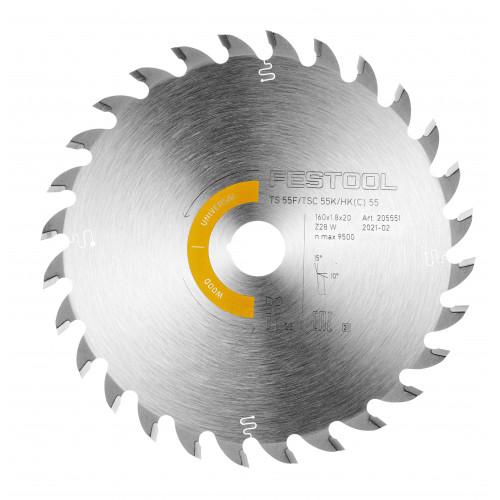 FESTOOL Saw blade HW 160x1,8x20 W28 TS55