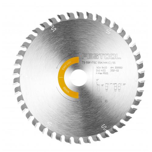 FESTOOL Saw blade HW 160x1,8x20 WD42