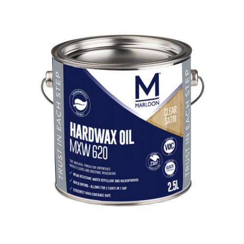 Marldon Hard Wax Oil MXW620 Satin 0.125ltr