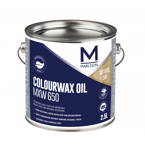 Marldon Colour Wax Oil Natural Oak 0.125ltr