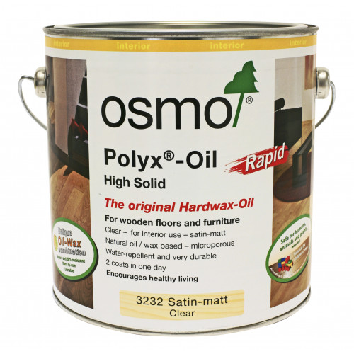 Osmo Rapid Polyx Oil Satin 0.125ltr
