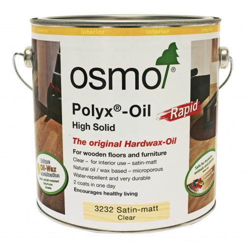 Osmo Rapid Polyx Oil Satin 0.125ltr