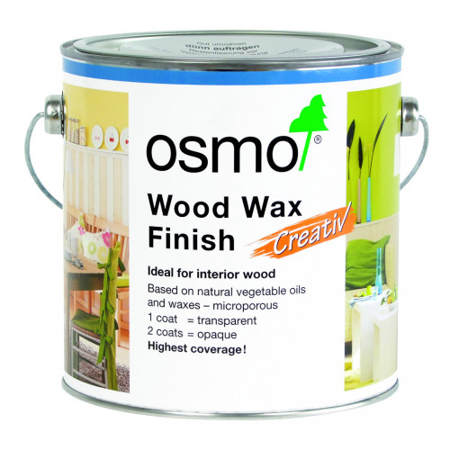 Osmo Wood Wax Finish Creativ Snow 2.5ltr