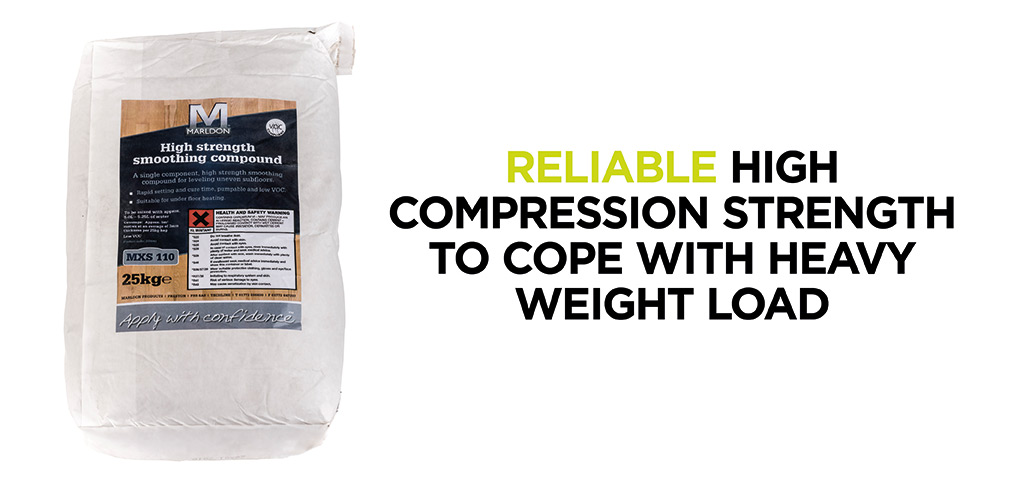 Marldon MXS110 boasts reliable high compression strength to cope with heavy weight load